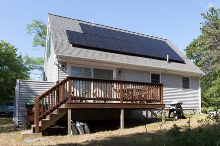 Wellfleet Cape Cod vacation rental - Rear of house with deck and solar panels