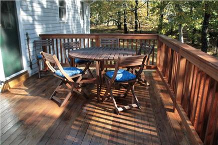 Wellfleet Cape Cod vacation rental - Back deck
