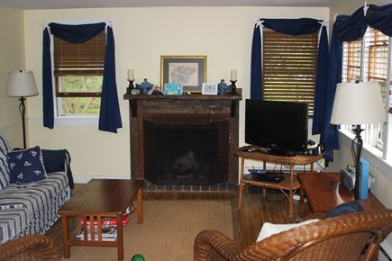 Harwich Port Cape Cod vacation rental - Open living room - with cable, dvd, and internet.
