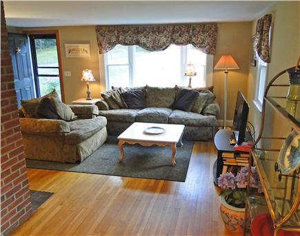 Chatham Cape Cod vacation rental - Living area with comfortable couches, flatscreen TV
