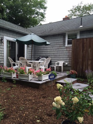 East Dennis/Scargo Hill Cape Cod vacation rental - Outdoor dining with Weber grill