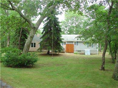 East Dennis/Scargo Hill Cape Cod vacation rental - Back yard with rope swing, outdoor shower and patio