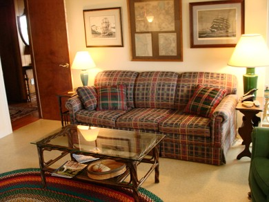 Wellfleet Cape Cod vacation rental - Beautiful den with sliders to a covered porch