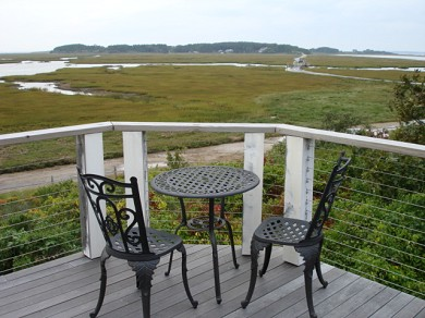 Wellfleet Cape Cod vacation rental - Upper deck for morning coffee or sunset views