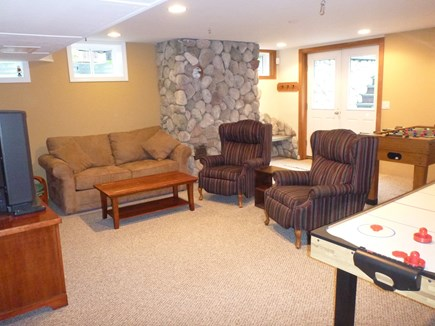 Orleans Cape Cod vacation rental - Downstairs builtout basement with foosball table, pullout couch
