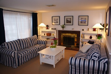West Dennis Cape Cod vacation rental - Living Room with Sofabed