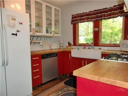 9 Pond Road, Orleans Cape Cod vacation rental - Kitchen Showing Dishwasher and Frig