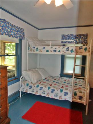 9 Pond Road, Orleans Cape Cod vacation rental - Front Bedroom Bunkbed - Full on Bottom, Single on Top