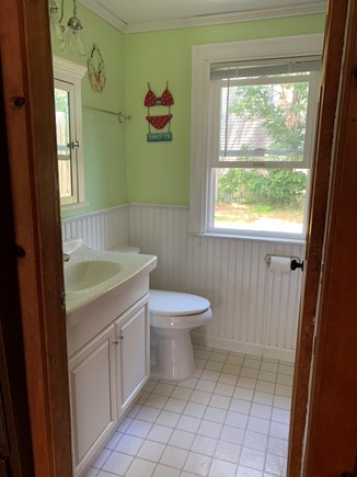 Chatham Cape Cod vacation rental - Inside bathroom with tub/shower