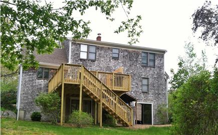Eastham Cape Cod vacation rental - Back of home-large, fenced yard. spacious outdoor shower