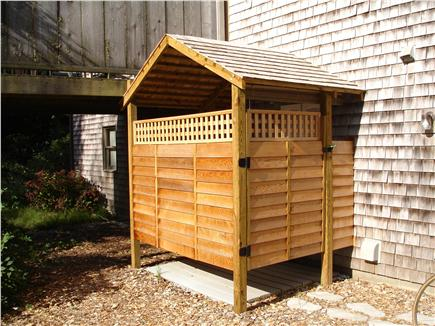 Eastham Cape Cod vacation rental - Large outdoor shower-perfect after a day at the beach