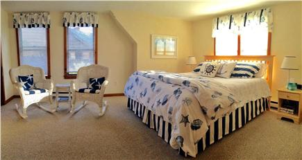 Eastham Cape Cod vacation rental - Master bedroom-King bed, sitting area, Hollywood bath