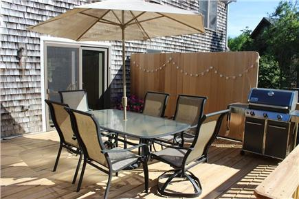 Eastham Cape Cod vacation rental - New, large deck with Weber grill overlooking private wooded lot