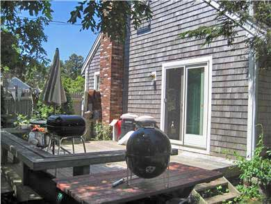 South Chatham Cape Cod vacation rental - Deck off Kitchen