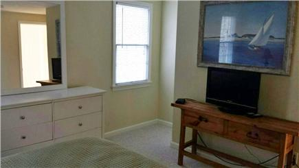 Eastham Cape Cod vacation rental - Upstairs bedroom #2 with queen bed and flatscreen