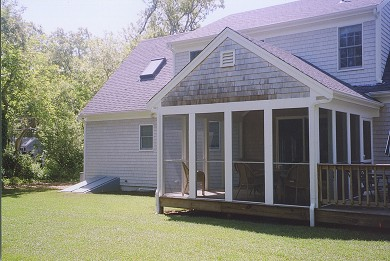 Eastham Cape Cod vacation rental - Backyard view