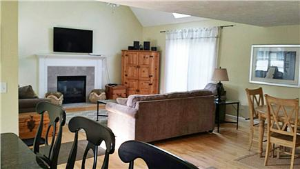 Eastham Cape Cod vacation rental - Living room with 50'' flatscreen and fireplace