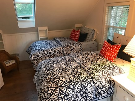 South Chatham Cape Cod vacation rental - Upstairs: Two twin beds (other view)