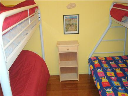 Wellfleet Cape Cod vacation rental - The 'Bunk bed'' bedroom, 1st floor.  A Twin/Twin and a Twin/Full