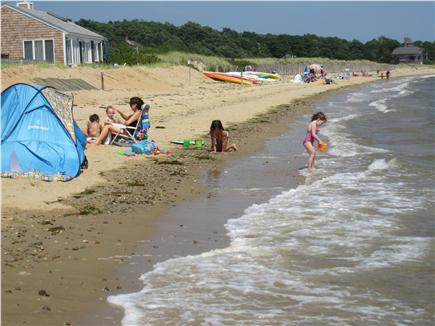 Wellfleet Cape Cod vacation rental - Our beach facing East. Gentle waves. No riptides to worry about.