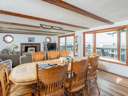 Wellfleet Cape Cod vacation rental - Open layout dining area with water view.Seats 8 to 12 people.