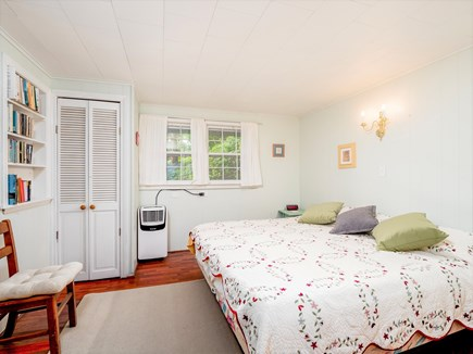 Wellfleet Cape Cod vacation rental - 1st floor bedroom with King bed and portable A/C.