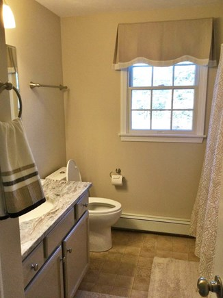 Forest Beach, South Chatham Cape Cod vacation rental - 2nd floor bath: New fixtures, decor & granite vanity.