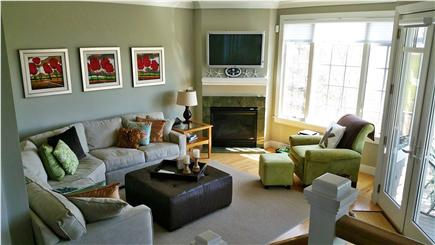New Seabury New Seabury vacation rental - Family room with gas fireplace and Plasma TV