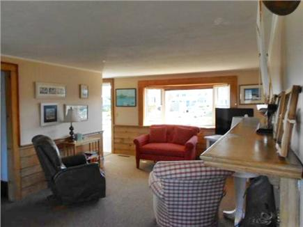 West Dennis Cape Cod vacation rental - Living room has an open concept with views of water