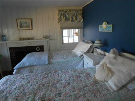west dennis  Cape Cod vacation rental - Front bedroom, dressed in Blue #1