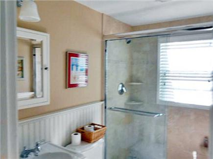 west dennis  Cape Cod vacation rental - One of two bathrooms