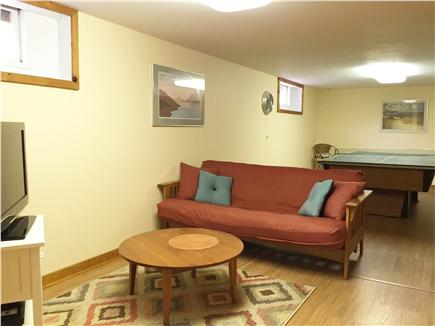 Eastham Cape Cod vacation rental - Basement Playroom with Ping Pong or Pool Table and TV