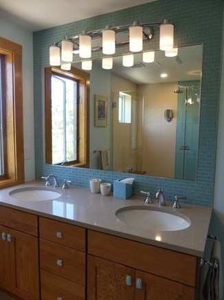 Eastham Cape Cod vacation rental - New master bathroom with a very large shower.