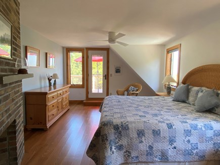 Eastham Cape Cod vacation rental - Master Bedroom  with 2nd floor deck views of the bay.