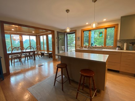 Eastham Cape Cod vacation rental - Eating Porch is off the kitchen with great views!