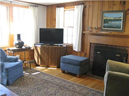 Dennisport Cape Cod vacation rental - Other view of knotty pine living room