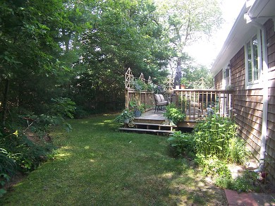 Osterville Osterville vacation rental - Deck overlooking private rear yard