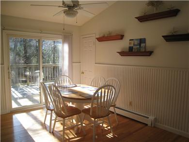 Osterville Osterville vacation rental - Dining Are w/Sliders to Deck & Pantry Closet