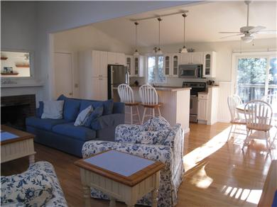 Osterville Osterville vacation rental - Living Room - Open to the Kitchen & Dining Area