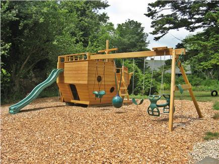Brewster, old historic district Cape Cod vacation rental - Back yard playset