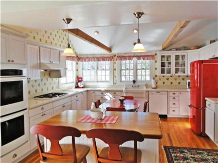 Brewster, old historic district Cape Cod vacation rental - Beautiful Country vintage kitchen with new appliances, skylights
