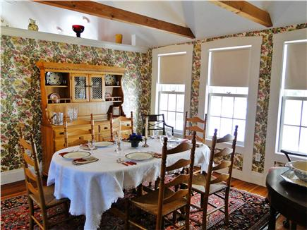 Brewster, old historic district Cape Cod vacation rental - Spacious dining room, adjacent to kitchen
