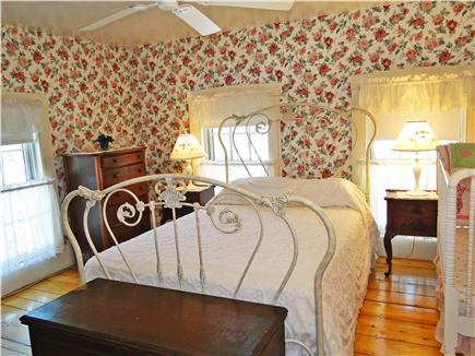 Brewster, old historic district Cape Cod vacation rental - Upstairs master suite with gas fireplace and private bath