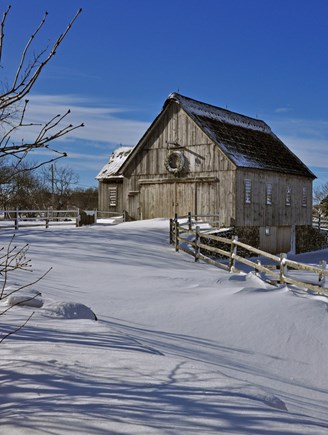 South Yarmouth Cape Cod vacation rental - Yes, the Cape gets snow! Mill Farm at Christmas!