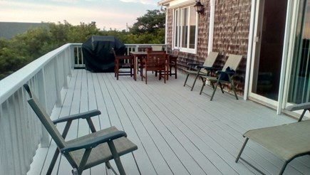 Eastham Cape Cod vacation rental - Bayside deck area.