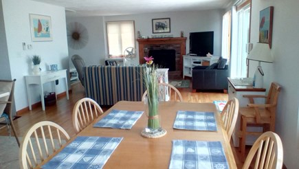Eastham Cape Cod vacation rental - Living room from dining area.
