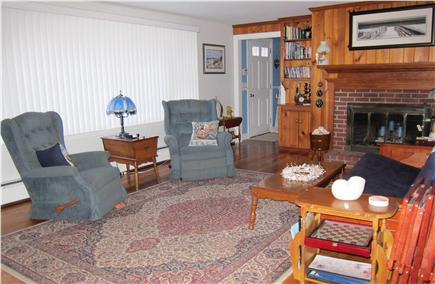 South Yarmouth Cape Cod vacation rental - Living room w/ 40'' HDTV, HD DVD player, fireplace, double futon