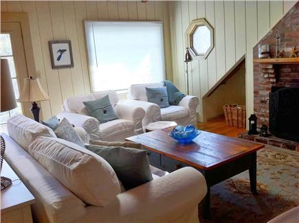 Falmouth Cape Cod vacation rental - Comfortable Living Room with fireplace and flat screen TV
