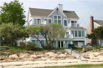 Barnstable Cape Cod vacation rental - View of house from beach