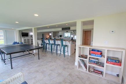Barnstable Cape Cod vacation rental - Walkout lower level - opens to yard/beach, bar, sleeping area etc